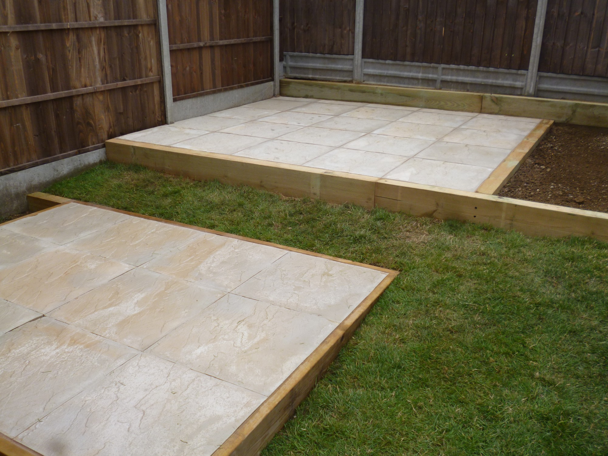 Raised Patio And Shed Base.