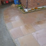 Paving slabs Indian Sandstone.