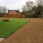 The finished gravel driveway in Wilbarston near to Stoke Albany and Market Harborough.