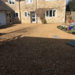 The renewed gravel driveway in Northamptonshire.