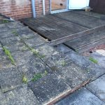 The patio before TDJ Construction began work in Kettering, Market Harborough.