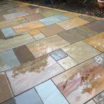 The new Indian Sandstone Patio in Desborough.