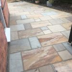 A close up of the finished patio in Desborough.