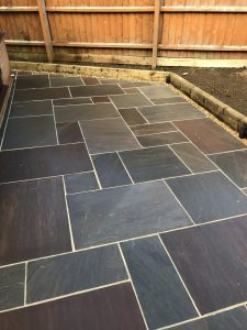 The patio in Rothwell that the customer can now use for entertaining again.